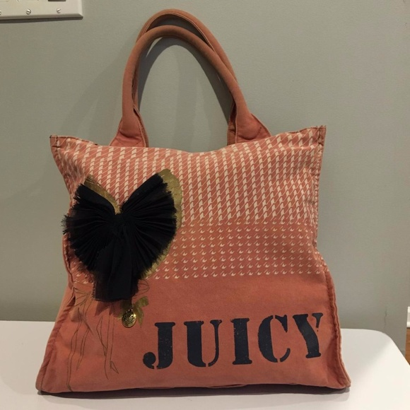 Juicy Couture Dusty Rose Canvas Tote
